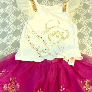 Disney store tinker bell 2 piece outfit